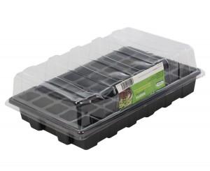 Minisera pentru rasaduri, PVC, T1, 39 x 25 x 7.5 cm