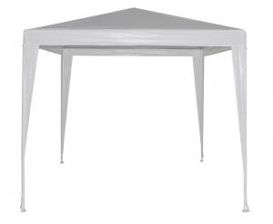 Pavilion gradina patrat cadru metalic + polietilena alb 2.4 x 2.4 m