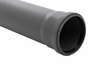 Teava PP pentru canalizare interioara, cu inel, 250 x 125 x 3.1 mm