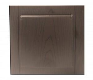 Priza simpla Comtec Anemon, incastrata, rama inclusa, cu capac, contact de protectie, stejar
