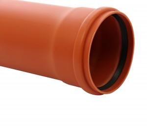 Teava PVC pentru canalizare exterioara, multistrat, SN4, 2000 x 200 x 4.9 mm