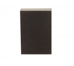 Burete abraziv cu 4 fete, pentru slefuire lemn / zidarie, Carbochim B4F, 100 x 70 x 25 mm, granulatie 120