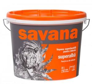 Vopsea superlavabila alba Savana 15 L