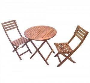 Set masa cu 2 scaune pentru gradina NP01051 din lemn