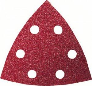Hartie abraziva pentru slefuitor delta, pentru lemn, Bosch 2609256957, 93 mm, set 10 bucati