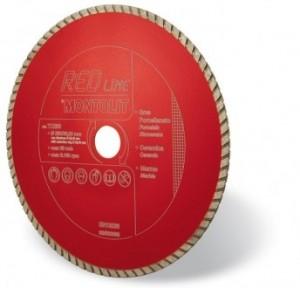 Disc diamantat, continuu, pentru debitare granit, Montolit Red Line, 250 x 25.4 x 30 mm