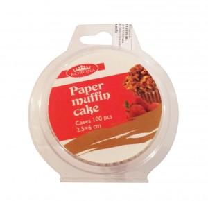 Hartie muffin, 46400001, 2.5 x 6 cm, 100 buc