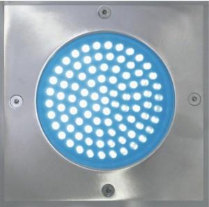 Spot patrat inox LED-uri albastre 00-973/60
