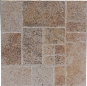 Gresie exterior / interior portelanata antiderapanta Avsa cotto, mata, maro, imitatie piatra, 33 x 33 cm