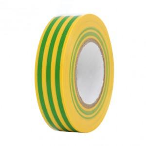 Banda izolatoare Comtec galben cu verde 20 m x 0.15 mm x 19 mm