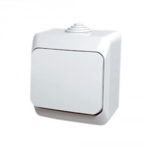 Intrerupator simplu Schneider Electric Cedar WDE000510, aparent, alb