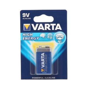 Baterie Varta High Energy 6LP3146, 9V, Primary Alkaline Manganese (ZN/MNO2)