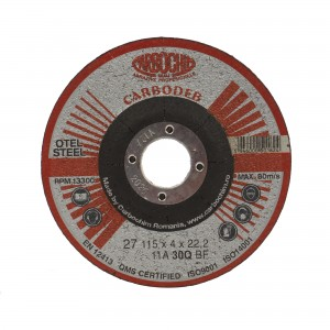 Disc polizare, Carbochim 11ABACH27E, 115 x 22.2 x 4 mm
