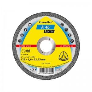 Disc debitare inox si metal, Klingspor A 46 Extra, 125 x 22.23 x 1.6 mm