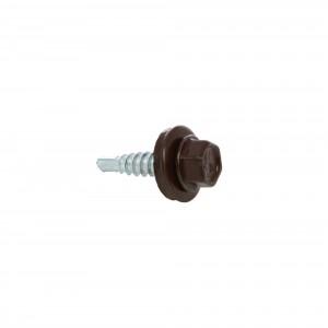 Surub pentru tigla metalica, autoforant, Gunnebo, maro RAL 8017, 4,8 x 20 mm, 250 bucati
