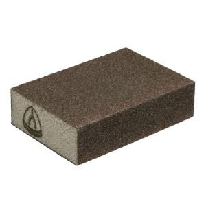 Burete abraziv pentru vopsea, lac, lemn, chit Klingspor SK 500 225165 granulatie 80 100x70x25 mm