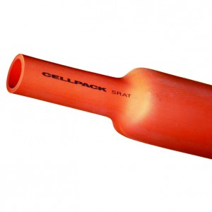 Tub termocontractabil gros Cellpack 144935, tip SRAT, 3.6-42 kV, fara adeziv, rosu, 80 - 26 / 1000 mm