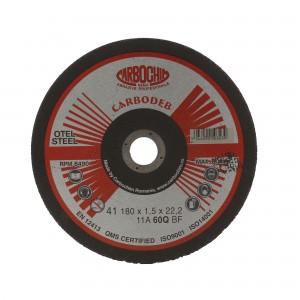 Disc debitare otel, Carbochim 11A60Q4B, 180 x 22.2 x 1.5 mm