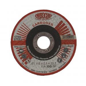 Disc debitare otel, Carbochim 11A30Q4B47, 115 x 22.2 x 2.5 mm