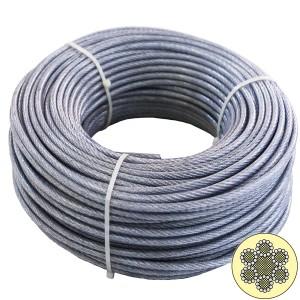 Cablu din otel zincat plastifiat, pentru ancorari usoare, 25 m x 2-3.5 / bucata