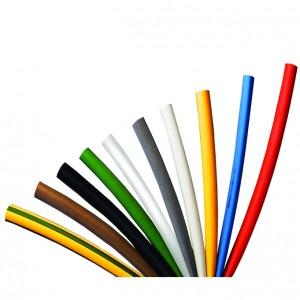 Tub termocontractabil subtire Cellpack 127212, tip SR1F, fara adeziv, rosu, 25.4 - 12.7 / 1200 mm