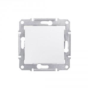 Intrerupator simplu Schneider Electric Sedna SDN0100121, incastrat, alb