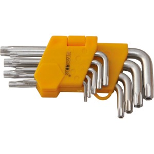 Chei imbus, scurte, cu locas torx, Lumytools LT56480, 10 - 50 mm, set 9 bucati