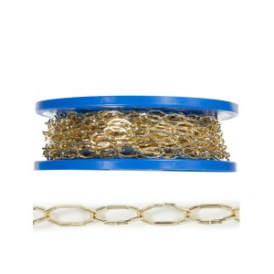 Lant auriu din sarma rectangulara 2,2 mm
