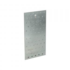 Placa perforata plata 120x240 mm 103054