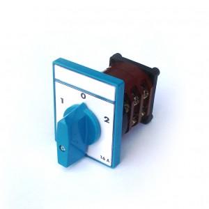 Comutator circular cu came Metop 63-017, 3 poli, pozitie 1-0-2, 16A
