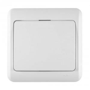 Intrerupator simplu Decor IMBS-ST 50482, incastrat, rama inclusa, alb