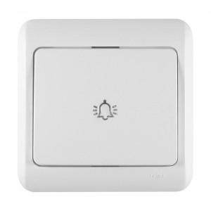 Intrerupator cap scara simplu Decor IMBCS-ST  50543, incastrat, rama inclusa, alb