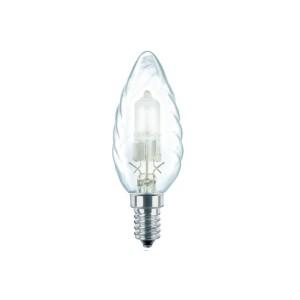 Bec halogen E14 Philips EcoClassic30 lumanare BW35 230V 28W lumina calda