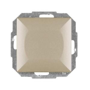 Intrerupator simplu Abex Perla WP-1P SA, incastrat, satin