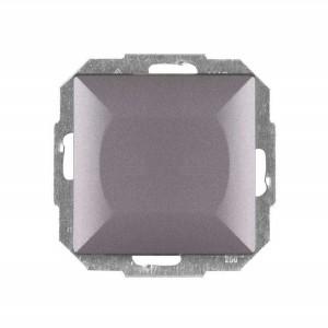 Intrerupator simplu cu indicator luminos Abex Perla WP-1P/S AN, incastrat, antracit