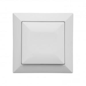 Intrerupator simplu Abex Perla WP-1P, incastrat, alb