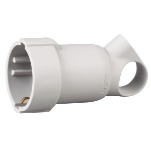 Priza 2P+T 16A cu inel alb 050331