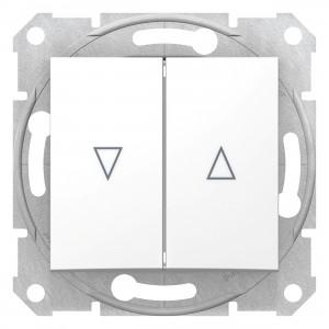 Intrerupator jaluzele Schneider Electric Sedna SDN1300321, cu blocare mecanica, alb