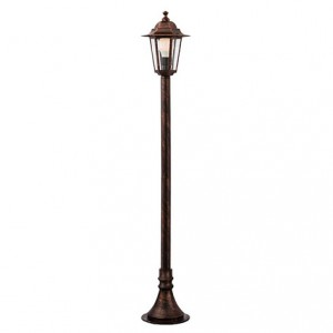 Stalp de iluminat ornamental London 6110C, 1 x E27, 100 cm, cupru