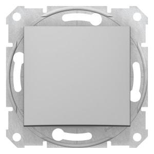 Intrerupator cap scara simplu Schneider Electric Sedna SDN0400160, incastrat, aluminiu