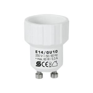 Adaptor dulie E14 - GU10 plastic Home