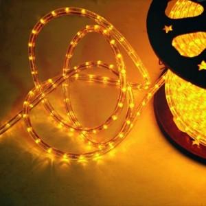 Cablu luminos LED Hoff galben interior / exterior 11 mm