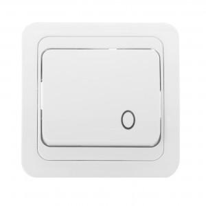 Intrerupator cu revenire Comtec Eco Premium MF0012-06009, incastrat, alb