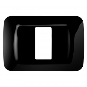 Rama Top System, 1 modul, Gewiss GW22511-CONS, negru