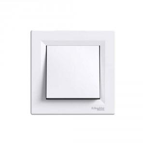 Intrerupator cap cruce Schneider Electric Asfora EPH0500121, incastrat, rama inclusa, alb