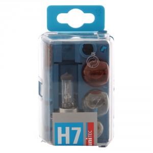 Set becuri auto rezerva pentru far Unitec H7, 12 V