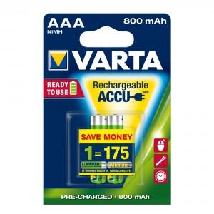 Acumulator Varta Rechargeable ACCU, R3 ( AAA ), 1.2V, 800 mAh, 2 buc