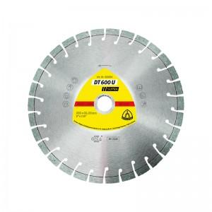 Disc diamantat, cu segmente, pentru debitare materiale de constructii, Klingspor DT 600 U Supra, 180 x 22.23 x 2.6 mm