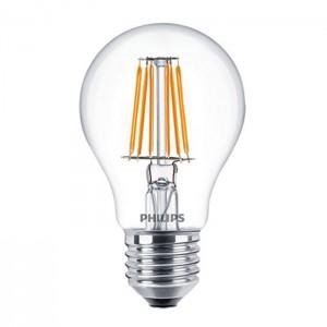 Bec LED Philips clasic A60 E27 7W lumina calda, cu filament