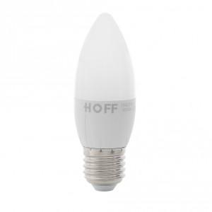 Bec LED Hoff LED lumanare E27 6W lumina rece